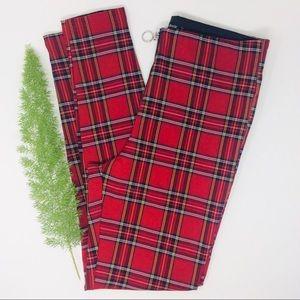 Zara Basic Beautiful Trendy Plaid Skinny Pants (M)